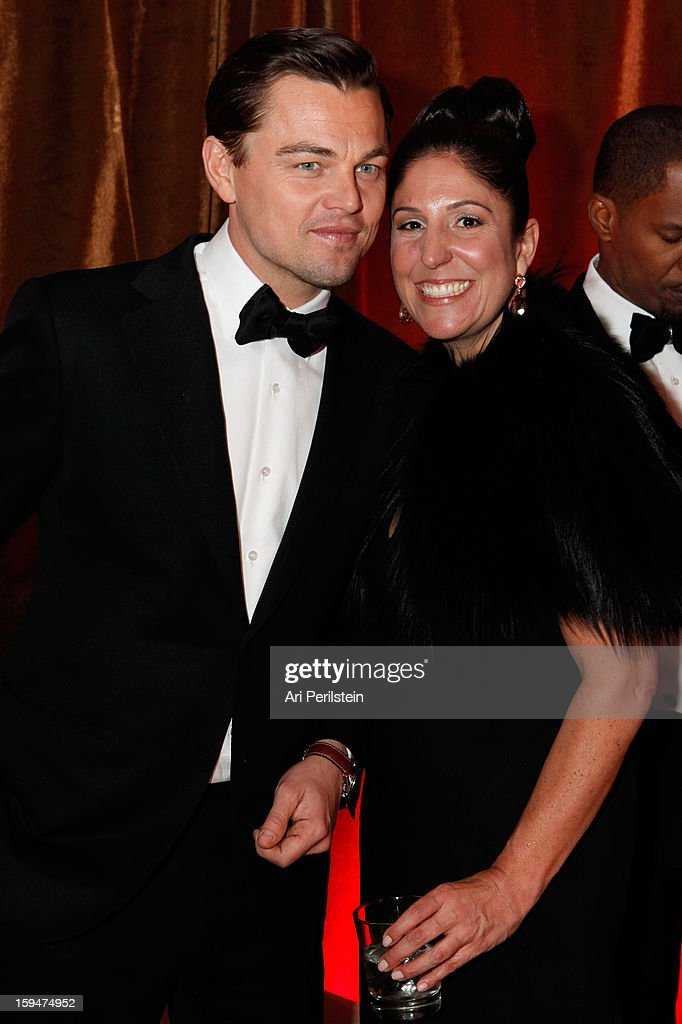 Actor Leonardo DiCaprio and guest attend The Weinstein Company's 2013 Golden Globe Awards after party presented by Chopard, HP, Laura Mercier, Lexus, Marie Claire, and Yucaipa Films held at The Old Trader Vic's at The Beverly Hilton Hotel on January 13, 2013 in Beverly Hills, California.
