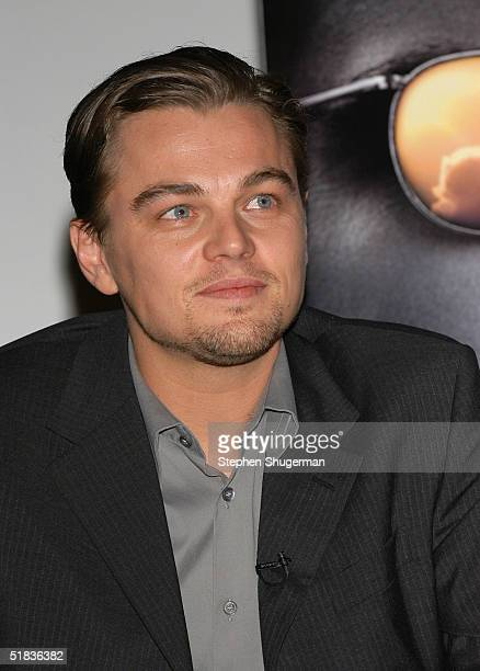 """Actor Leonardo DiCaprio answers questions from the audience during the Q & A following the Variety Screening Series """"The Aviator"""" at the ArcLight..."""