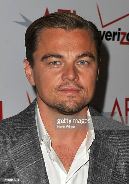 Actor Leonardo DiCaprio arrives at the 12th Annual AFI Awards held at the Four Seasons Hotel Los Angeles at Beverly Hills on January 13 2012 in...