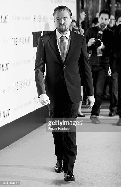 Actor Leonardo DiCaprio arrives at the Premiere Of 20th Century Fox And Regency Enterprises' The Revenant at TCL Chinese Theatre on December 16 2015...