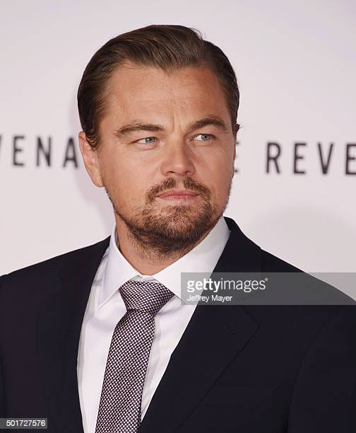 Actor Leonardo DiCaprio arrives at the Premiere of 20th Century Fox And Regency Enterprises' 'The Revenant' at TCL Chinese Theatre on December 16,...