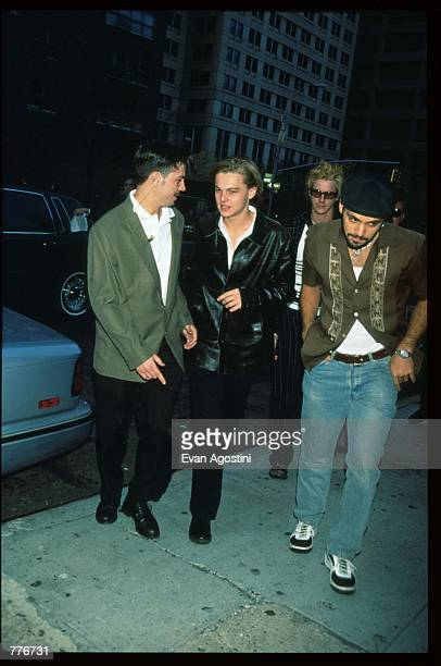 Actor Leonardo DiCaprio arrives at the premiere of the film The Pallbearer April 28 1996 in New York City The film which stars Gwyneth Paltrow and...