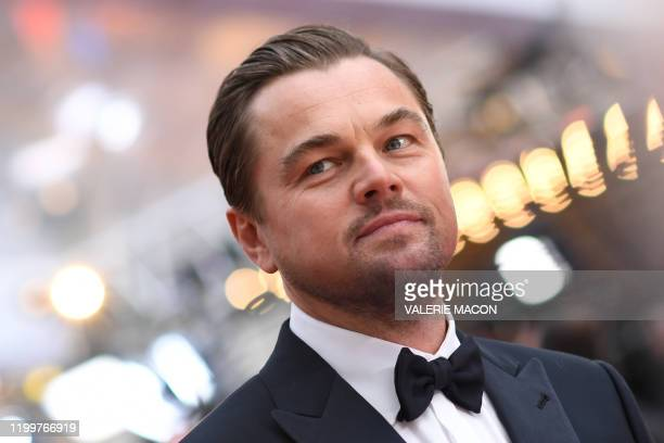 Actor Leonardo DiCaprio arrives for the 92nd Oscars at the Dolby Theatre in Hollywood, California on February 9, 2020.