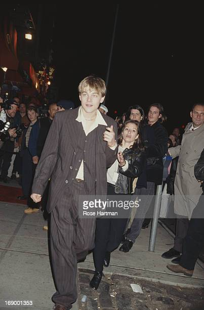 Actor Leonardo DiCaprio at the film premiere for 'The Basketball Diaries', 1995.