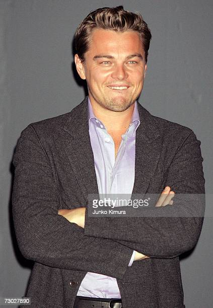 Actor Leonardo DiCaprio attends a photo call to promote his latest movie The Departed on January 18 2007 in Tokyo Japan The film directed by Martin...