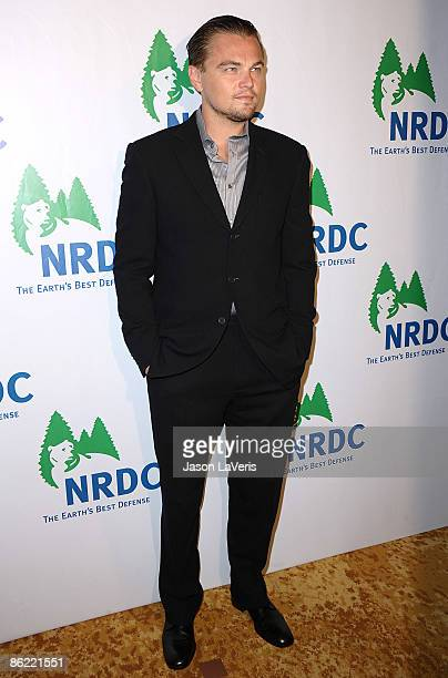 Actor Leonardo DiCaprio attends Natural Resources Defense Council's 20th anniversary celebration at the Beverly Wilshire Hotel on April 25, 2009 in...