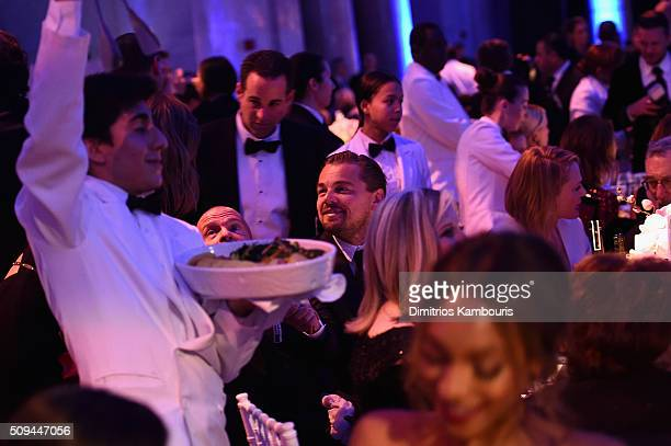 Actor Leonardo DiCaprio attends the 2016 amfAR New York Gala at Cipriani Wall Street on February 10 2016 in New York City