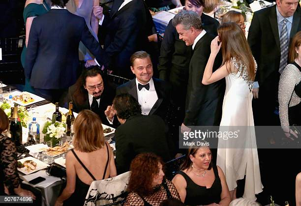 Actor Leonardo DiCaprio attends The 22nd Annual Screen Actors Guild Awards at The Shrine Auditorium on January 30 2016 in Los Angeles California...