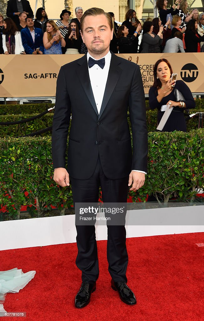 Actor Leonardo DiCaprio attends the 22nd Annual Screen Actors Guild Awards at The Shrine Auditorium on January 30, 2016 in Los Angeles, California.