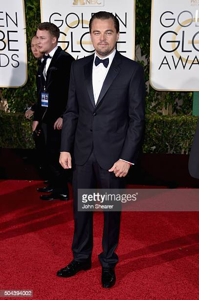 Actor Leonardo DiCaprio attends the 73rd Annual Golden Globe Awards held at the Beverly Hilton Hotel on January 10 2016 in Beverly Hills California