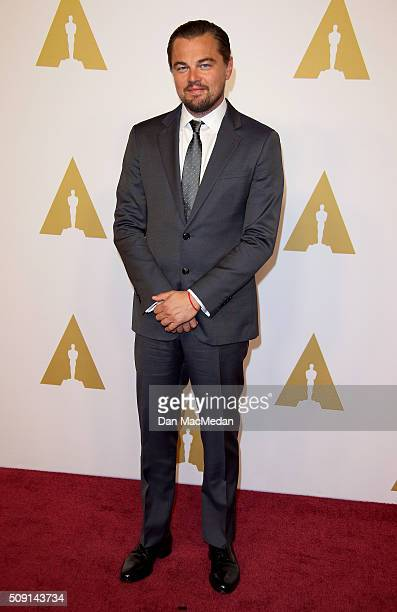 Actor Leonardo DiCaprio attends the 88th Annual Academy Awards Nominee Luncheon in Beverly Hills California