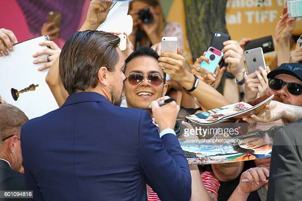 Actor Leonardo DiCaprio attends the 'Before The Flood' premiere held at Princess of Wales Theatre during the Toronto International Film Festival on...