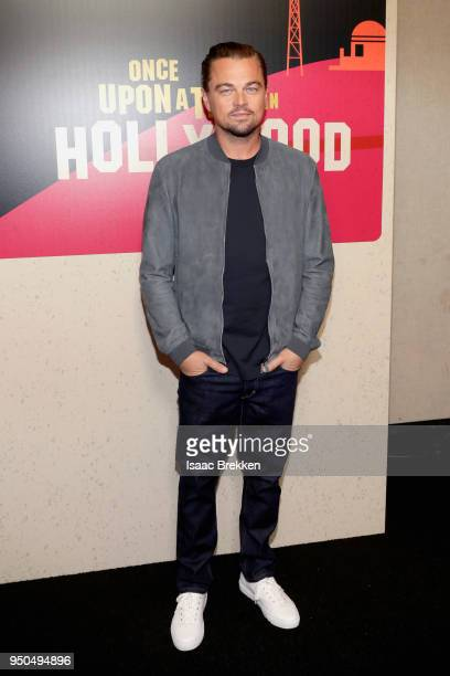 Actor Leonardo DiCaprio attends the CinemaCon 2018 Gala Opening Night Event Sony Pictures Highlights its 2018 Summer and Beyond Films at The...