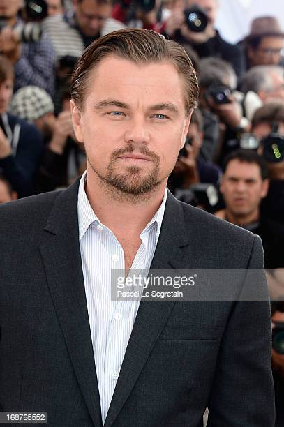 Actor Leonardo DiCaprio attends 'The Great Gatsby' photocall during the 66th Annual Cannes Film Festival at the Palais des Festivals on May 15 2013...