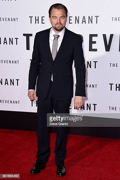 """Actor Leonardo DiCaprio attends the premiere of 20th Century Fox and Regency Enterprises' """"The Revenant"""" at the TCL Chinese Theatre on December 16,..."""