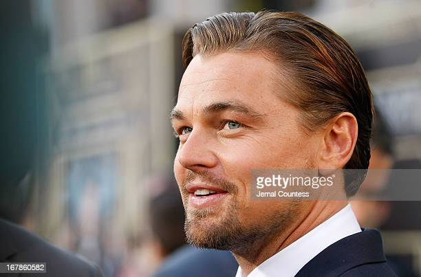 Actor Leonardo DiCaprio attends the The Great Gatsby world premiere at Avery Fisher Hall at Lincoln Center for the Performing Arts on May 1 2013 in...