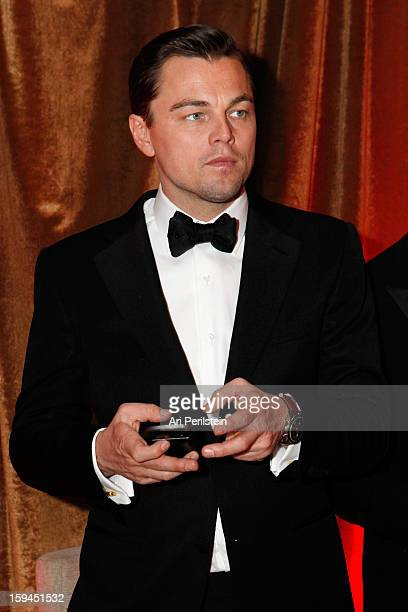 Actor Leonardo DiCaprio attends the The Weinstein Company's 2013 Golden Globe Awards after party presented by Chopard HP Laura Mercier Lexus Marie...