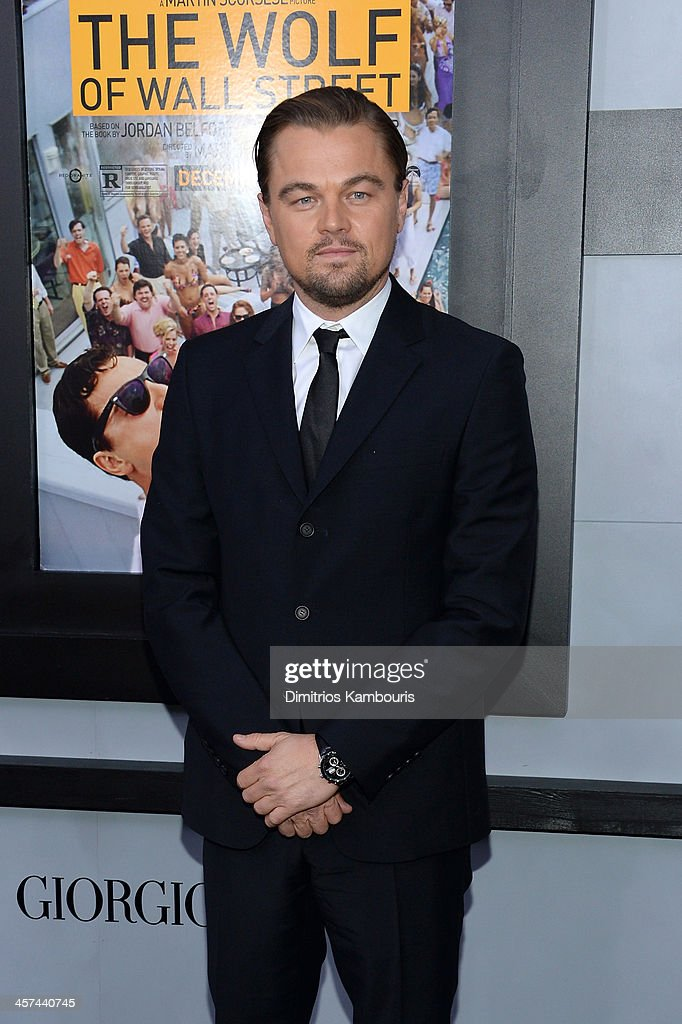Actor Leonardo DiCaprio attends the 'The Wolf Of Wall Street' premiere at the Ziegfeld Theatre on December 17, 2013 in New York City.