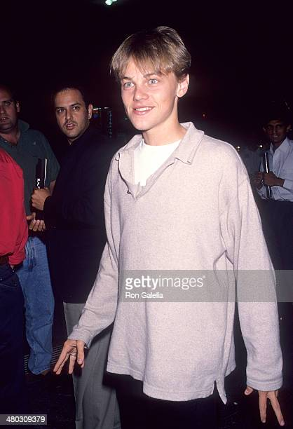 Actor Leonardo DiCaprio attends the 'True Romance' Hollywood Premiere on September 8 1993 at the Mann's Chinese Theatre in Hollywood California