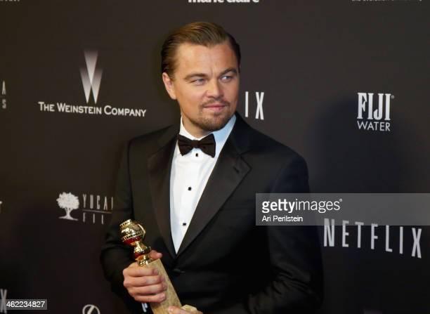 Actor Leonardo DiCaprio attends The Weinstein Company Netflix's 2014 Golden Globes After Party presented by Bombardier FIJI Water Lexus Laura Mercier...