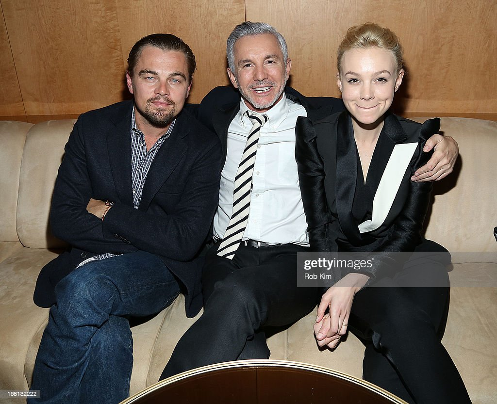 Actor Leonardo DiCaprio, director Baz Luhrmann and actress Carey Mulligan attend the pre-Met Ball special screening of 'The Great Gatsby' after-party at The Top of The Standard on May 5, 2013 in New York City.