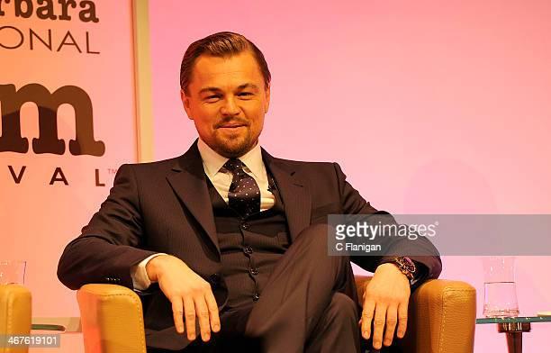 Actor Leonardo DiCaprio during the Cinema Vanguard Award at the Arlington Theatre on February 6 2014 in Santa Barbara California