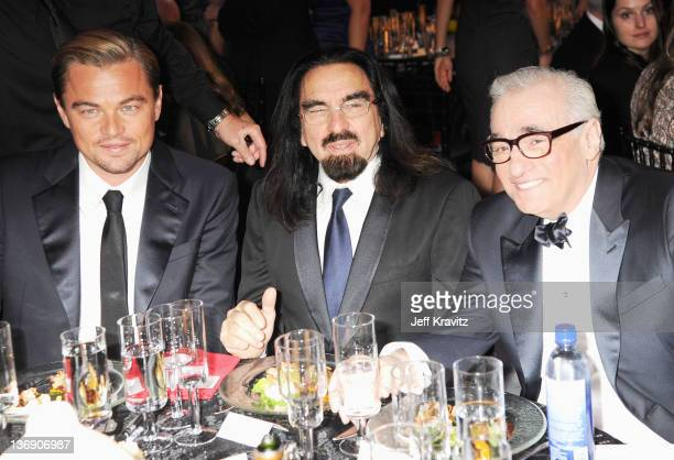 Actor Leonardo DiCaprio George DiCaprio and director Martin Scorsese attend the 17th Annual Critics' Choice Movie Awards held at The Hollywood...