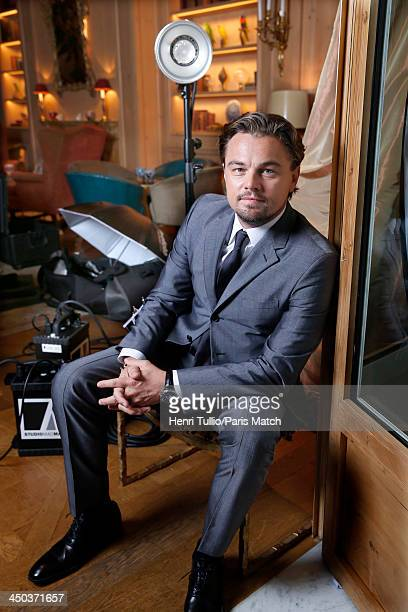 Actor Leonardo DiCaprio is photographed for Paris Match on November 6 2013 in Paris France