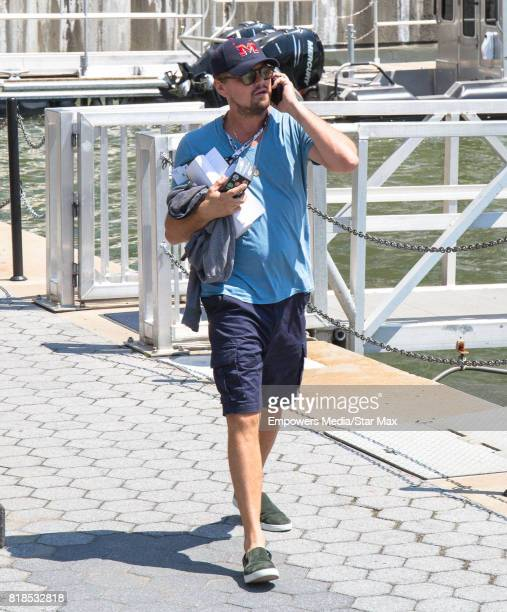 Actor Leonardo DiCaprio is seen at North Cove Marina at Brookfield Place July 16 2017 in New York City