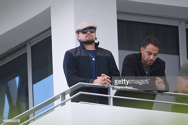 Actor Leonardo DiCaprio is seen on December 3 2013 in Miami Beach Florida