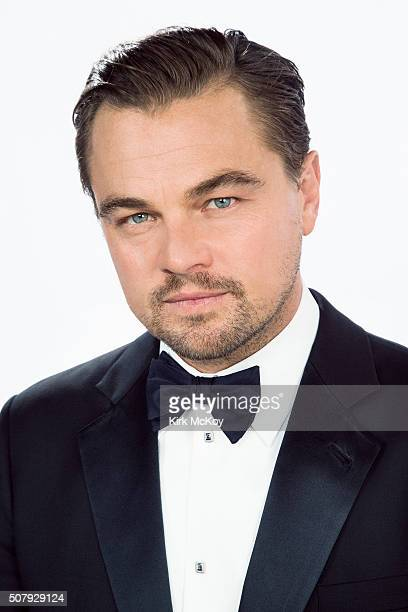 Actor Leonardo DiCaprio poses for a portraits at the 22st Annual Screen Actors Guild Awards for Los Angeles Times on January 30 2016 in Los Angeles...
