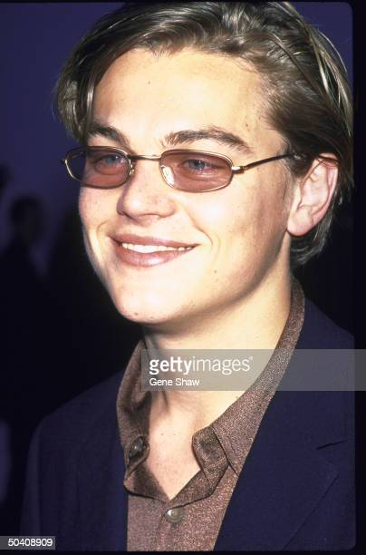 Actor Leonardo DiCaprio wearing sunglasses