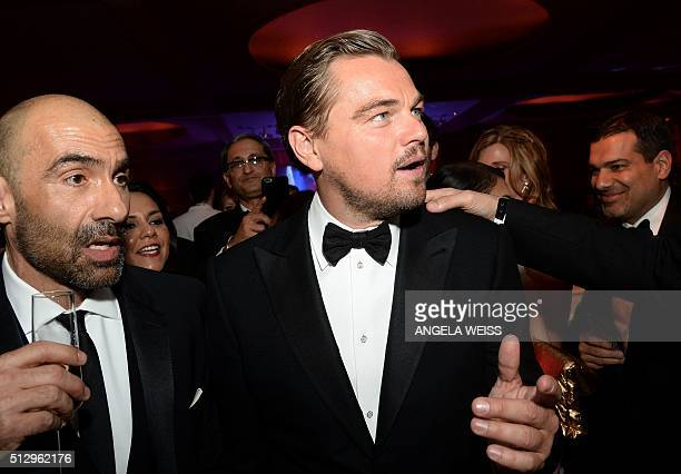 Actor Leonardo DiCaprio winner of the Best Actor award for 'The Revenant' attends the 88th Annual Academy Awards Governors Ball at Hollywood Highland...
