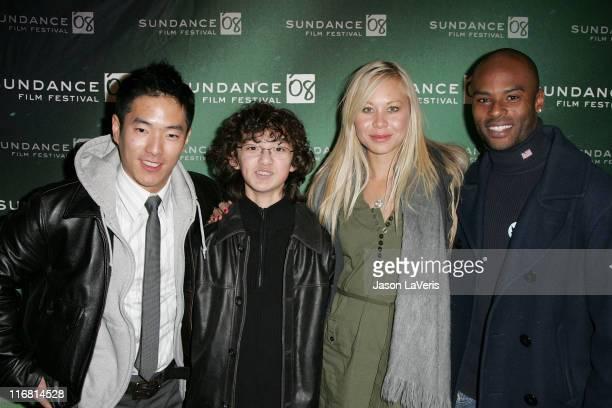 "Actor Leonardo Nam, actor Alexander Agate, actress Sanoe Lake and actor Lee Marks attend a screening of ""Half-Life"" during 2008 Sundance Film..."