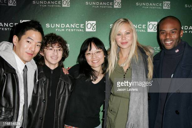Actor Leonardo Nam actor Alexander Agate director Jennifer Phang actress Sanoe Lake and actor Lee Marks attend a screening of 'HalfLife' during 2008...