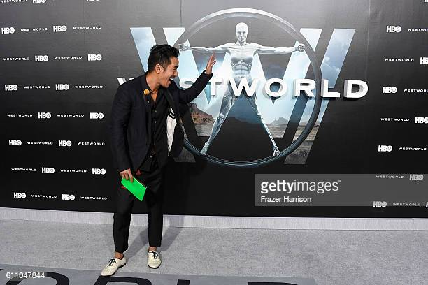 Actor Leonardo Nam attends the premiere of HBO's Westworld at TCL Chinese Theatre on September 28 2016 in Hollywood California