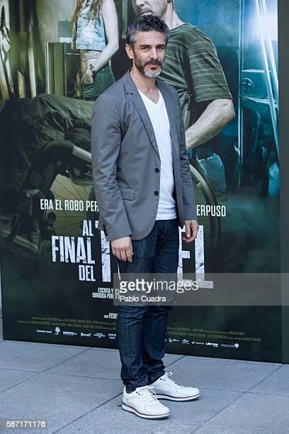 Actor Leonardo Sbaraglia attends 'Al Final Del Tunel' photocall at Warner Bros office on August 8 2016 in Madrid Spain