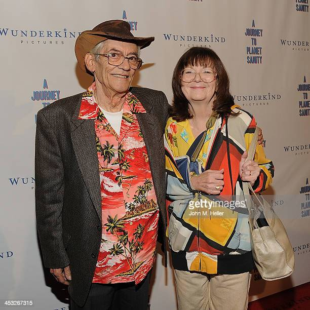 Actor LeRoy Tessina and Mary Tessina attend the Los Angeles Premiere of A Journey To Planet Sanity at the Laemmle Monica 4Plex on December 2 2013 in...
