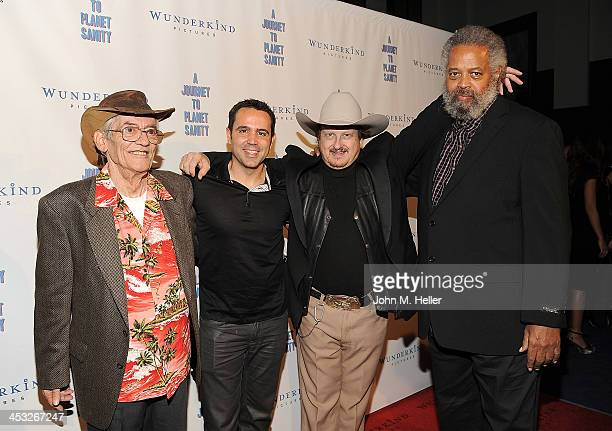 Actor LeRoy Tessina director/producer Blake Freeman actor Don Ray Walton and The Prophet Yahwah attend the Los Angeles Premiere of A Journey To...