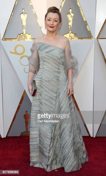 Actor Lesley Manville attend the 90th Annual Academy Awards at Hollywood Highland Center on March 4 2018 in Hollywood California