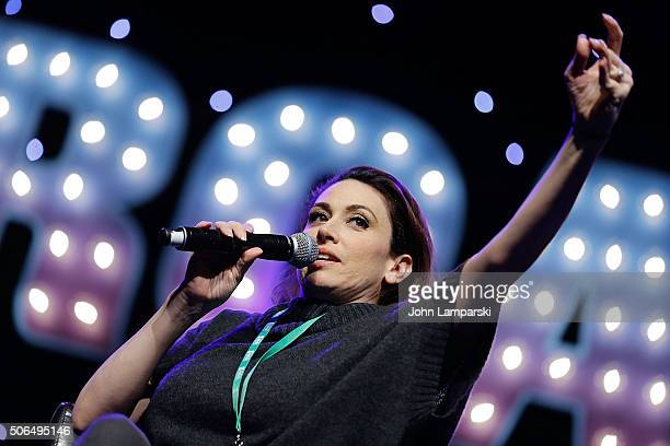 Actor Lesli Margherita attends the BroadwayCon 2016 at the Hilton Midtown on January 23 2016 in New York City