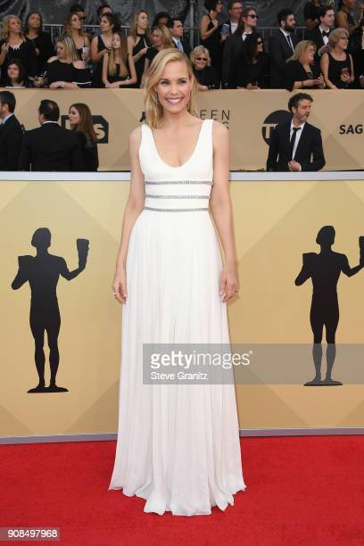 Actor Leslie Bibb attends the 24th Annual Screen ActorsGuild Awards at The Shrine Auditorium on January 21 2018 in Los Angeles California