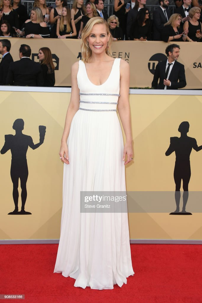 Actor Leslie Bibb attends the 24th Annual Screen ActorsGuild Awards at The Shrine Auditorium on January 21, 2018 in Los Angeles, California.