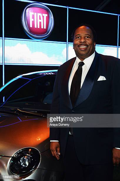 Actor Leslie David Baker attends Fiat's Into The Green at the 70th Annual Golden Globe Awards held at The Beverly Hilton Hotel on January 13 2013 in...