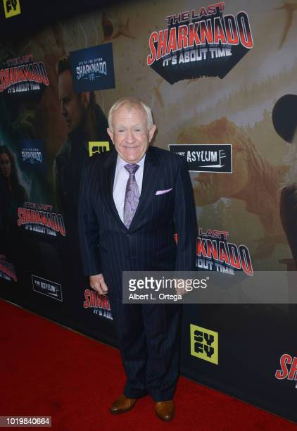 Actor Leslie Jordan arrives for the Premiere Of The Asylum And Syfy's 'The Last Sharknado It's About Time' held at Cinemark Playa Vista on August 19...