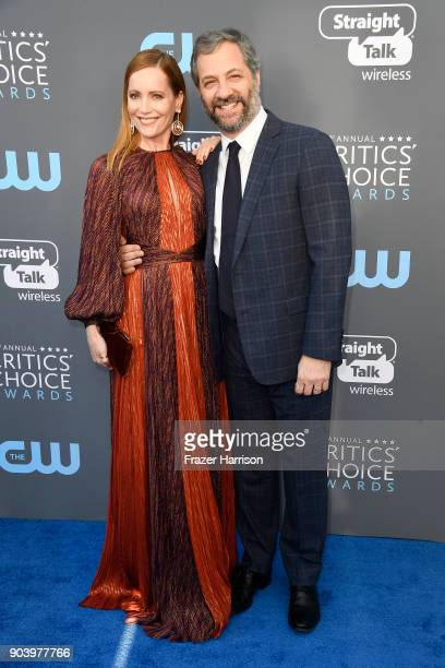 Actor Leslie Mann and director Judd Apatow attend The 23rd Annual Critics' Choice Awards at Barker Hangar on January 11 2018 in Santa Monica...