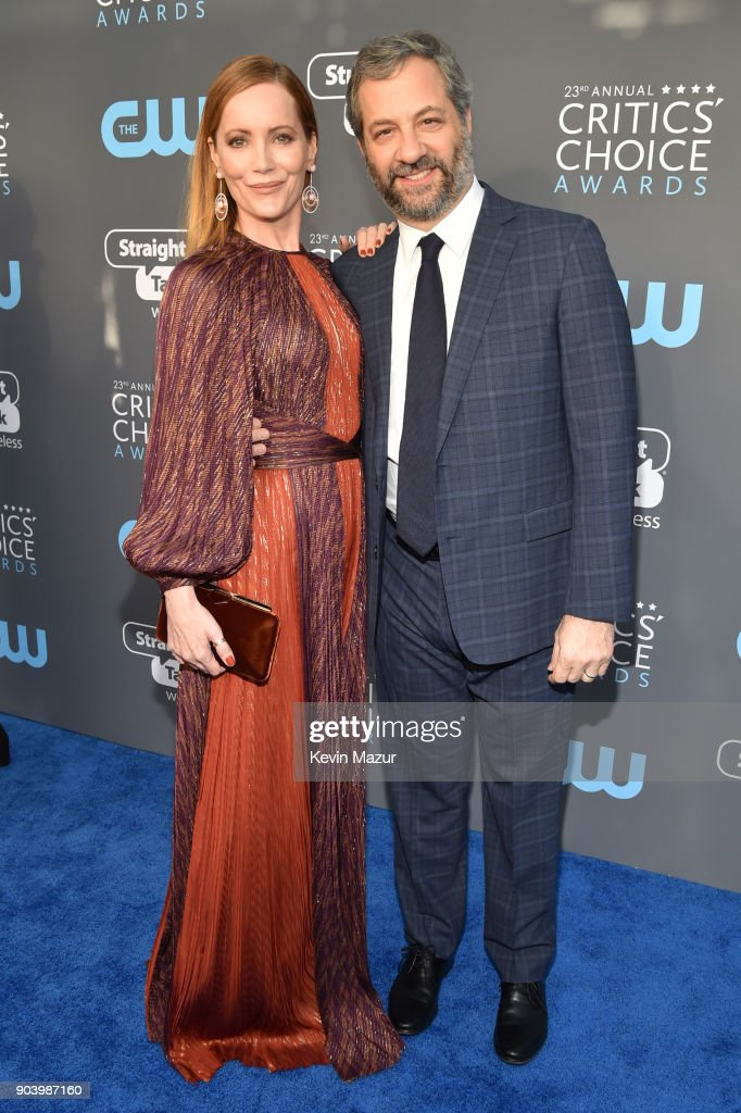 Actor Leslie Mann (L) and producer Judd Apatow attend The 23rd Annual Critics' Choice Awards at Barker Hangar on January 11, 2018 in Santa Monica, California.