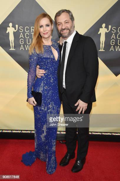 Actor Leslie Mann and producer Judd Apatow attend the 24th Annual Screen Actors Guild Awards at The Shrine Auditorium on January 21, 2018 in Los...