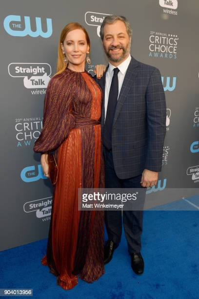 Actor Leslie Mann and produer Judd Apatow attend The 23rd Annual Critics' Choice Awards at Barker Hangar on January 11 2018 in Santa Monica California