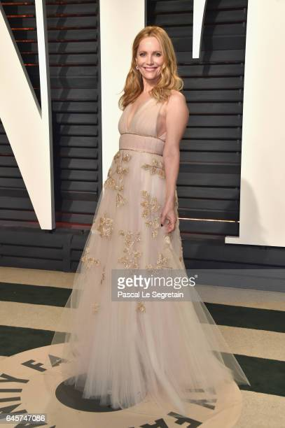 Actor Leslie Mann attends the 2017 Vanity Fair Oscar Party hosted by Graydon Carter at Wallis Annenberg Center for the Performing Arts on February 26...